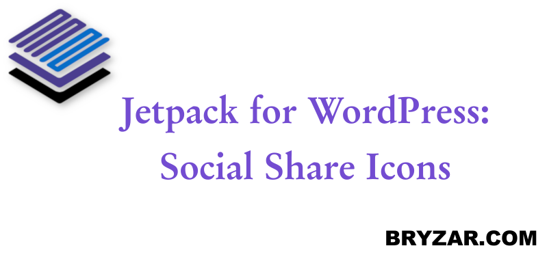 WordPress: Jetpack Social Share Icons